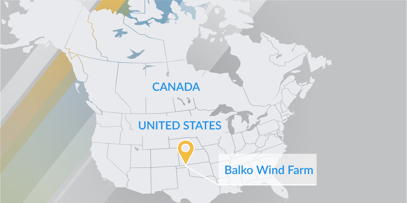 Oklahoma Wind Map.Balko Wind Farm Fiera Infrastructure